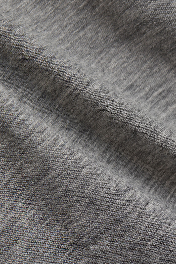 Jersey T-shirt, organic cotton/LENZING™ ECOVERO™, MEDIUM GREY, detail image number 4