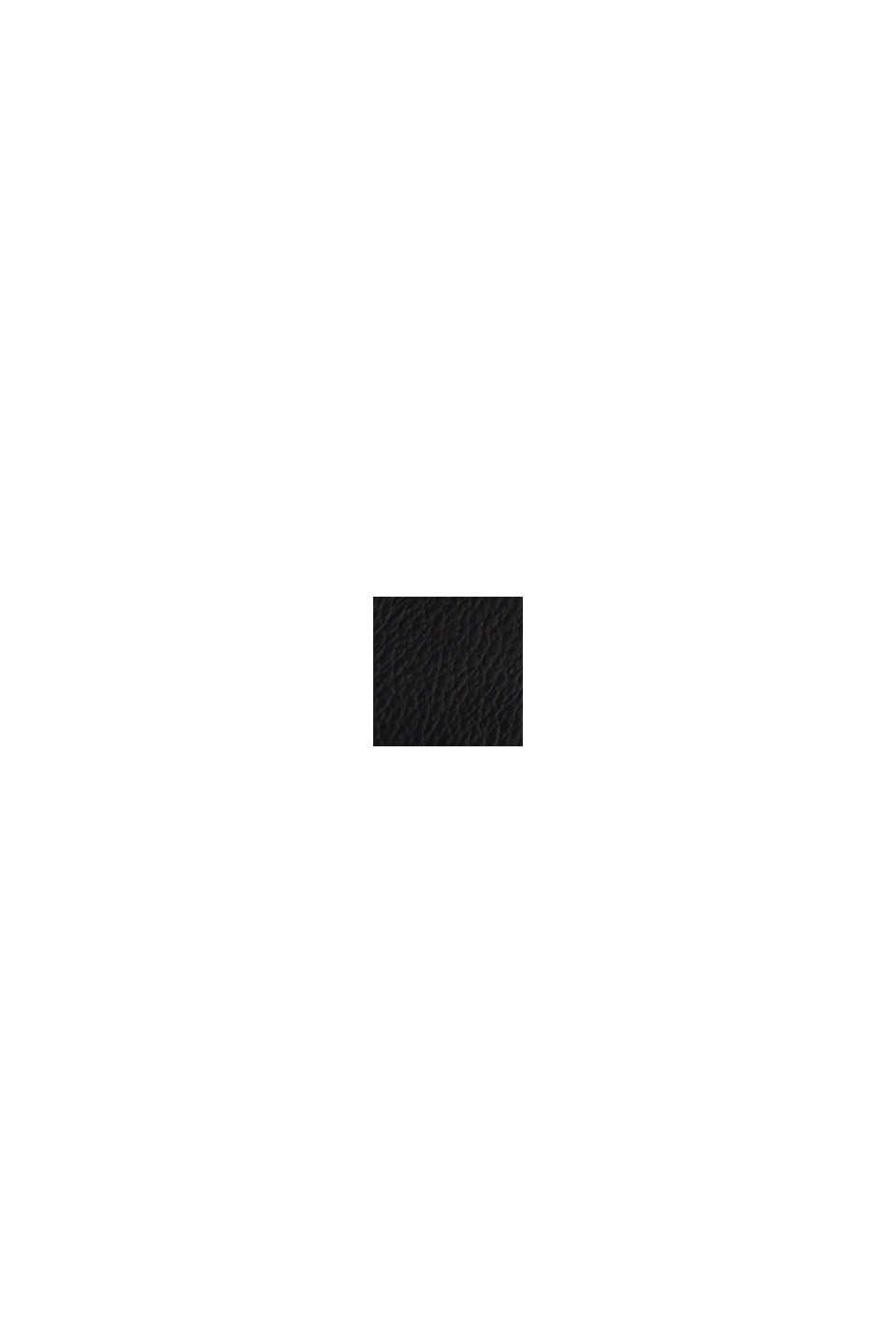 Väska i skinnlook, BLACK, swatch