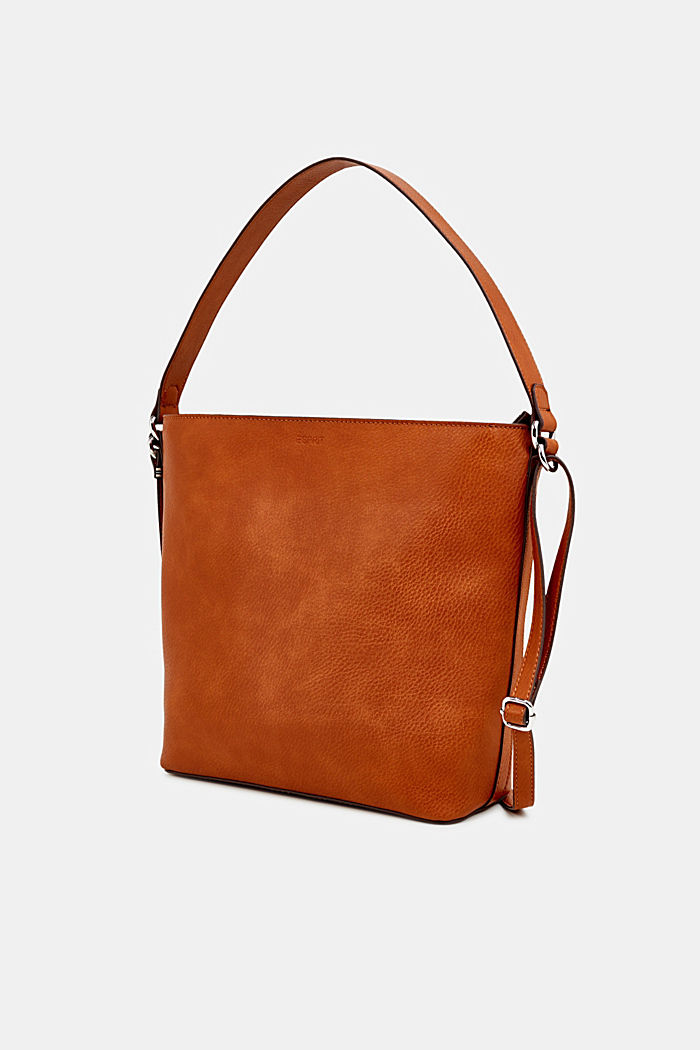 Faux leather hobo bag, RUST BROWN, detail image number 2