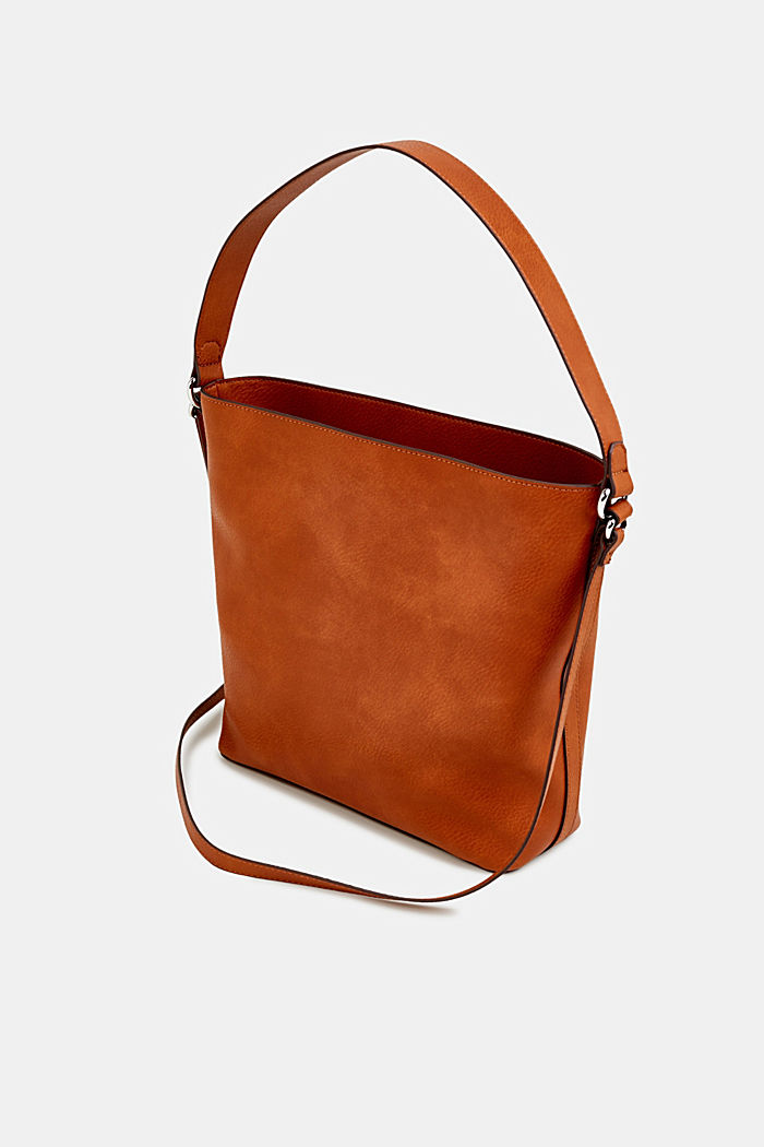 Faux leather hobo bag, RUST BROWN, detail image number 5