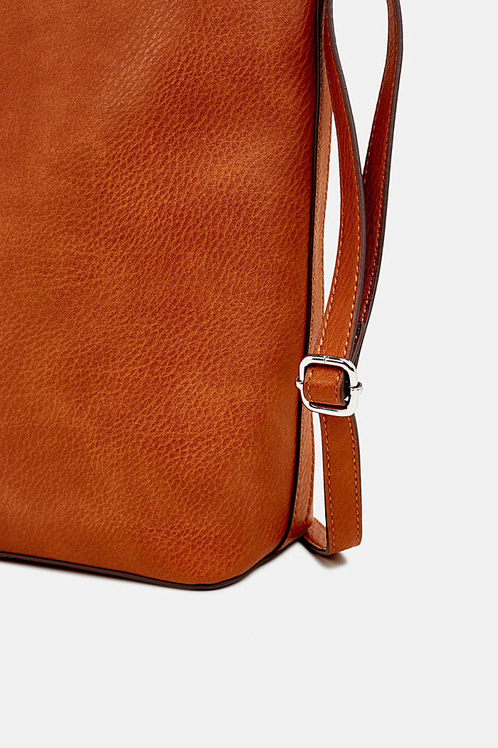 Faux leather hobo bag, RUST BROWN, detail image number 3