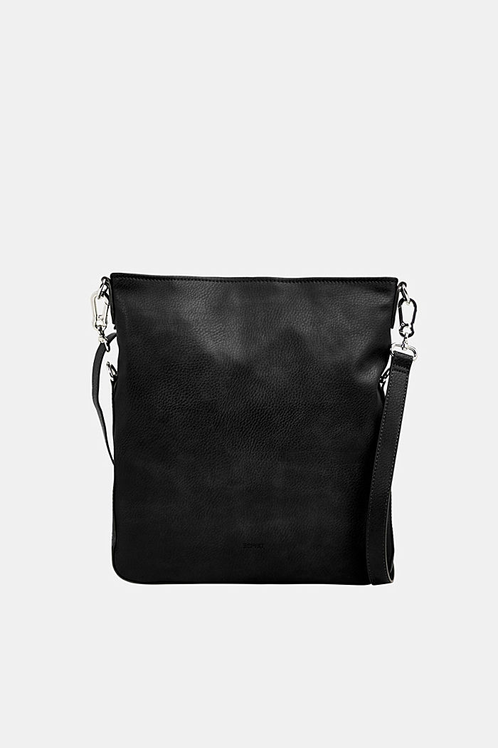 Flapover bag in faux leather