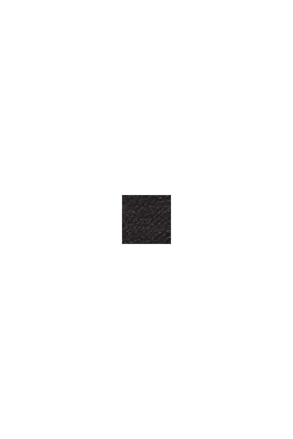 Shoppingväska i skinnlook, BLACK, swatch