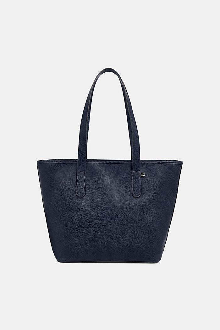 Faux leather shopper