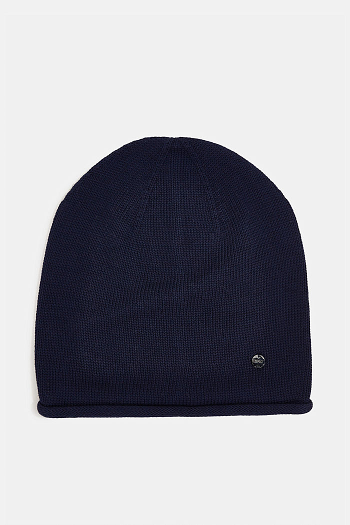 Beanie made of 100% organic cotton, NAVY, detail image number 0