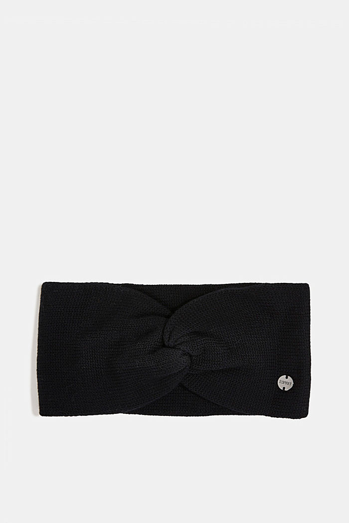 Headband made of 100% organic cotton, BLACK, detail image number 0