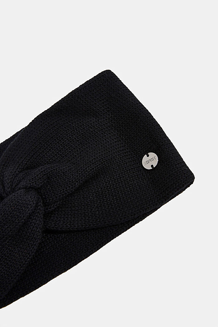 Headband made of 100% organic cotton, BLACK, detail image number 1