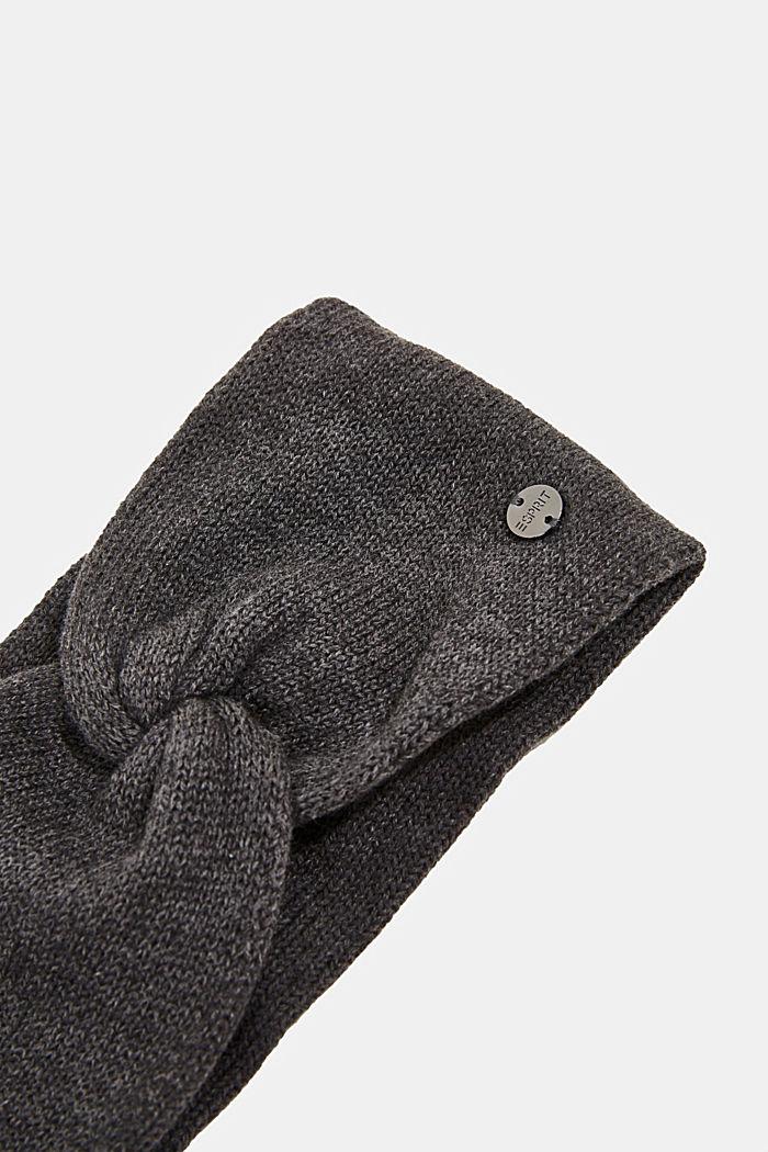 Headband made of 100% organic cotton, DARK GREY, detail image number 1