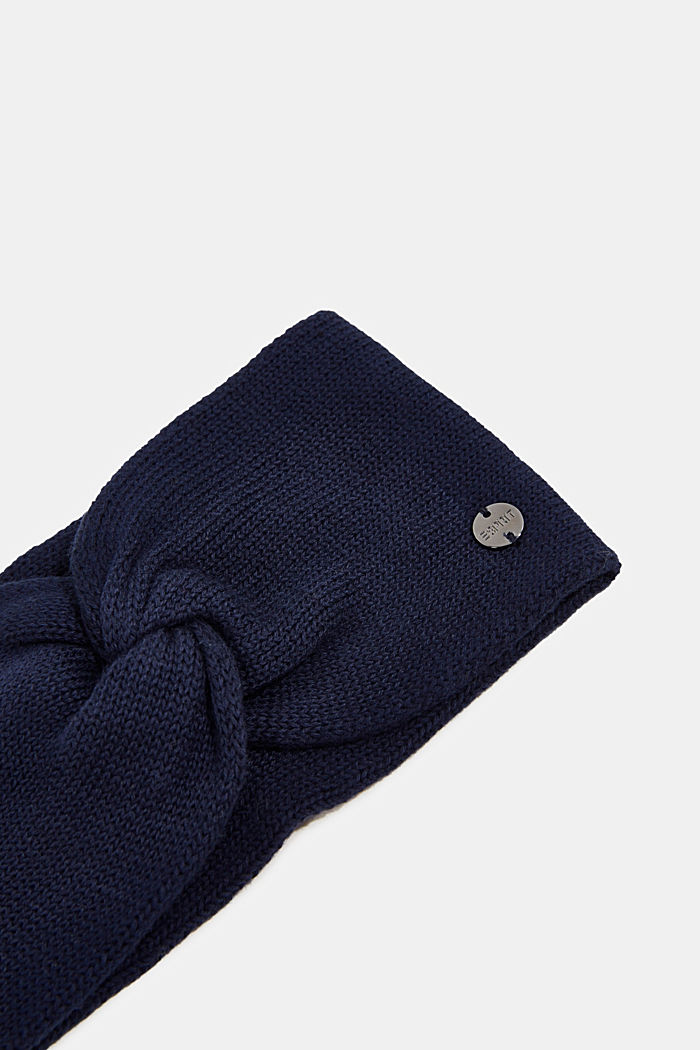 Headband made of 100% organic cotton, NAVY, detail image number 1