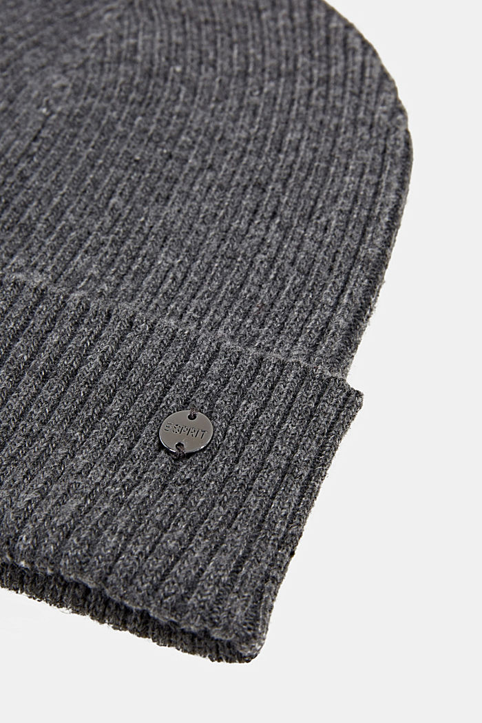 Hat made of recycled yarn, MEDIUM GREY, detail image number 1