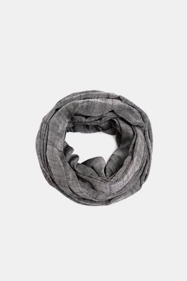 Snood made of 100% cotton, BLACK, detail