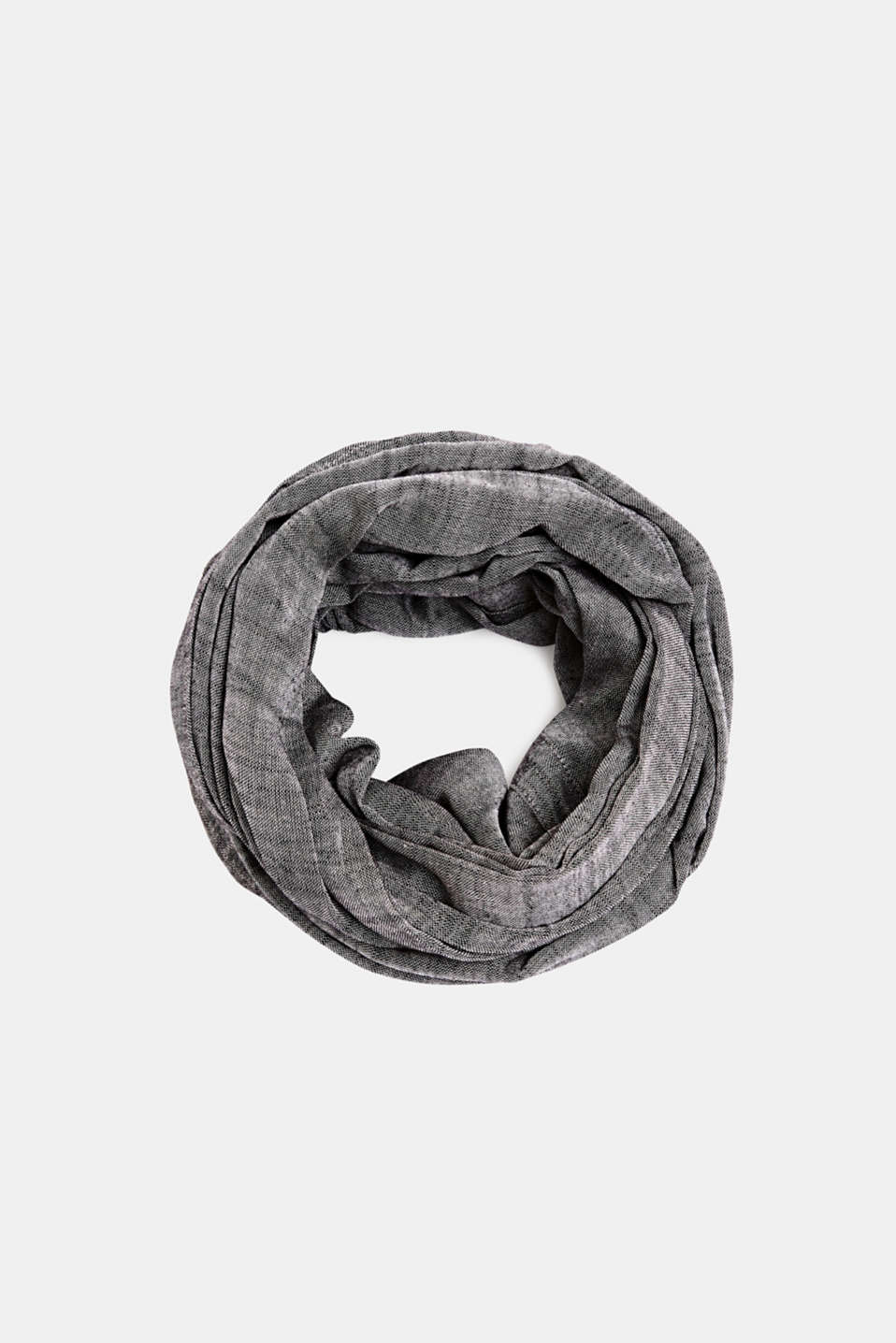 Snood made of 100% cotton, BLACK, detail image number 0