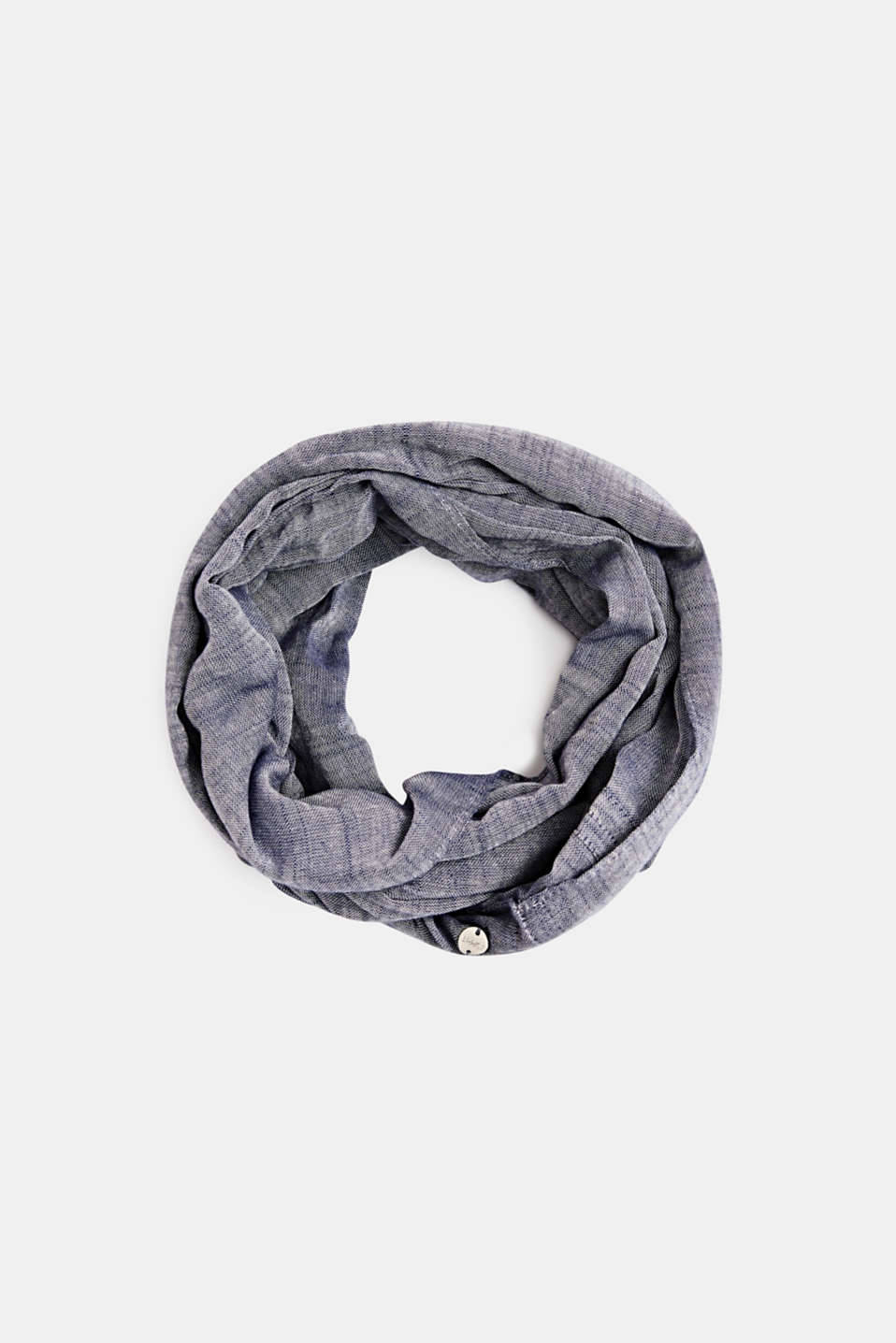 Snood made of 100% cotton, NAVY, detail image number 0