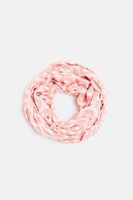 Snood with floral print, LIGHT PINK, detail