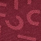 Scarf with a monogram, 100% cotton, GARNET RED, swatch