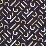 Monogram scarf made of 100% cotton, BLACK, swatch