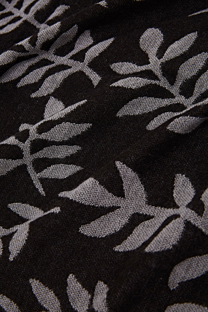 Scarf with LENZING™ ECOVERO™, BLACK, detail image number 2