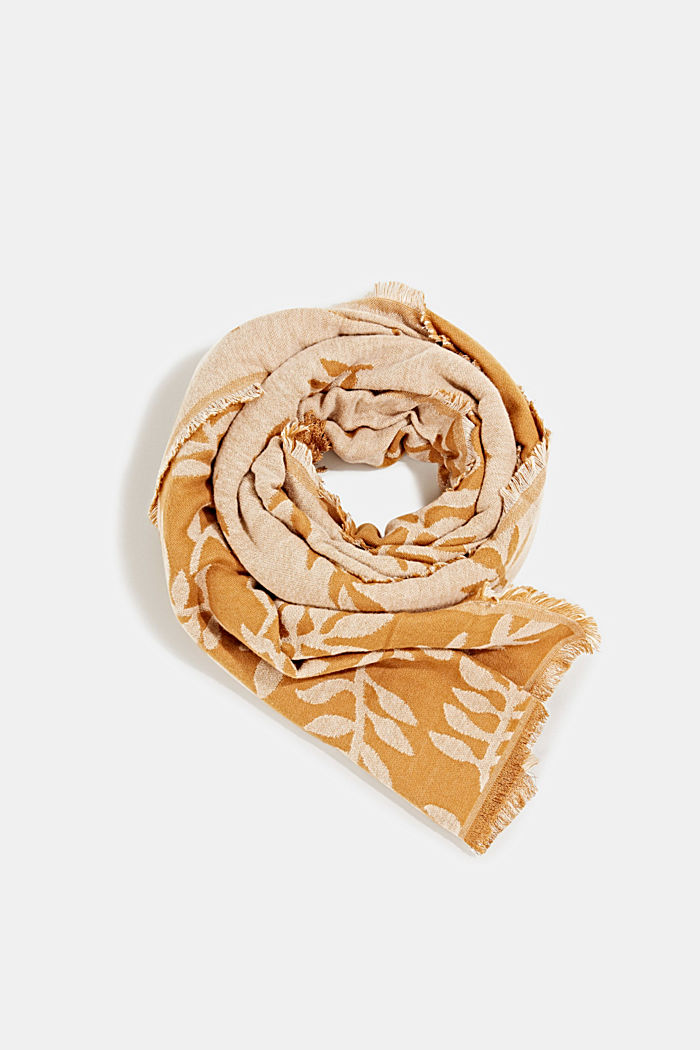Scarf with LENZING™ ECOVERO™, CAMEL, overview