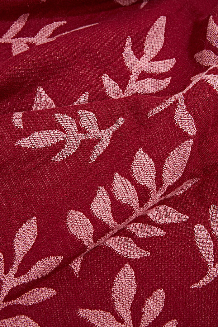 Scarf with LENZING™ ECOVERO™, GARNET RED, detail image number 2