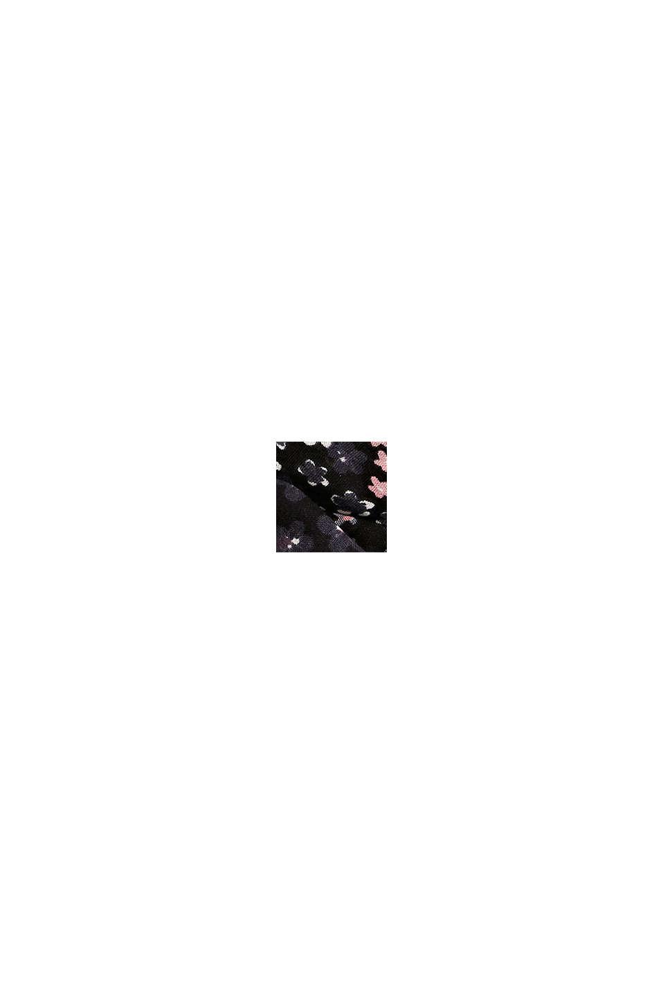 Reciclado: Cuello con estampado de flores, BLACK, swatch