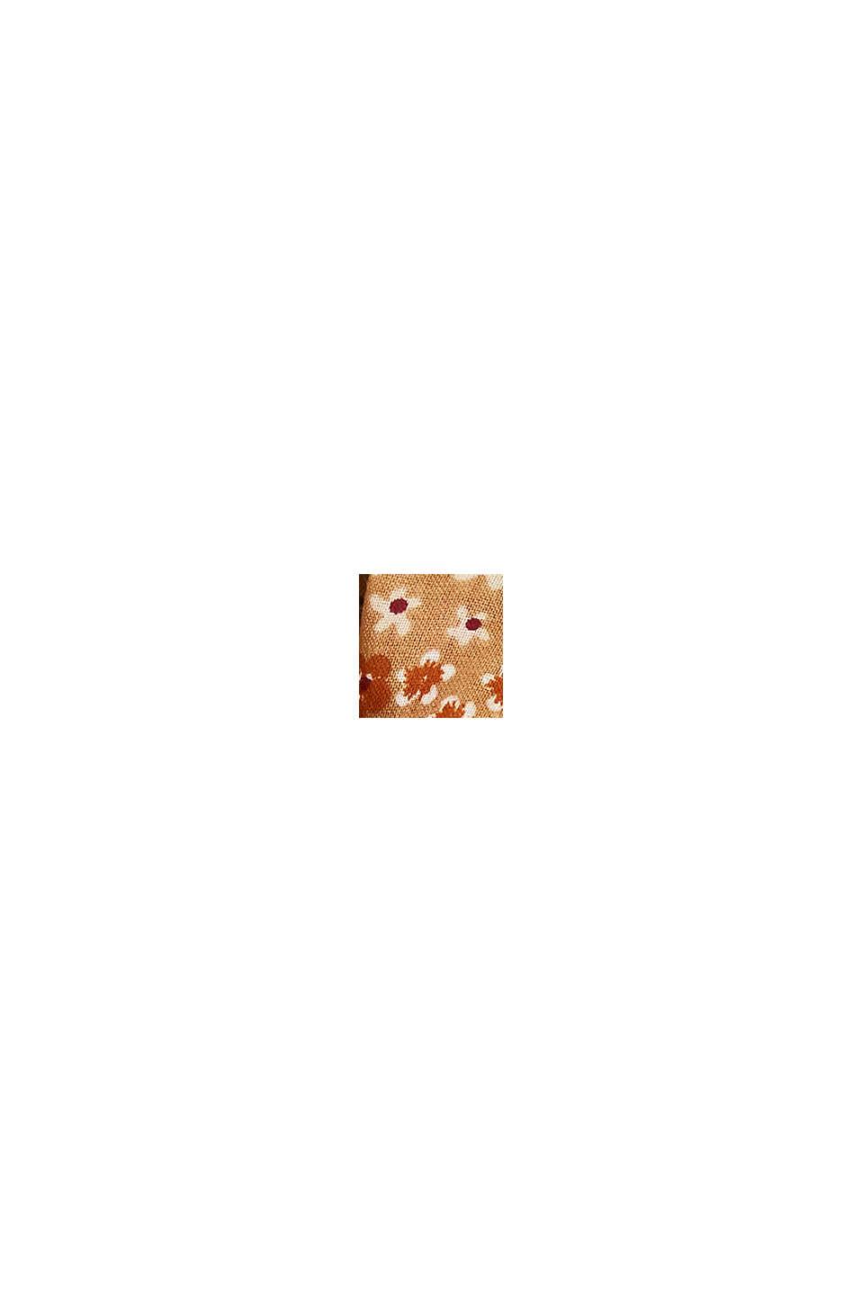 Reciclado: Cuello con estampado de flores, CAMEL, swatch
