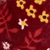 Gerecycled: met bloemenprint, GARNET RED, swatch