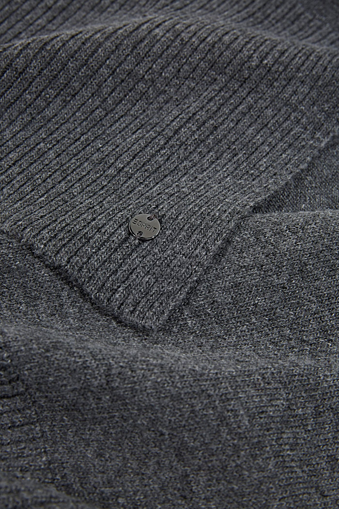 Strick-Schal aus recyceltem Garn, MEDIUM GREY, detail image number 2