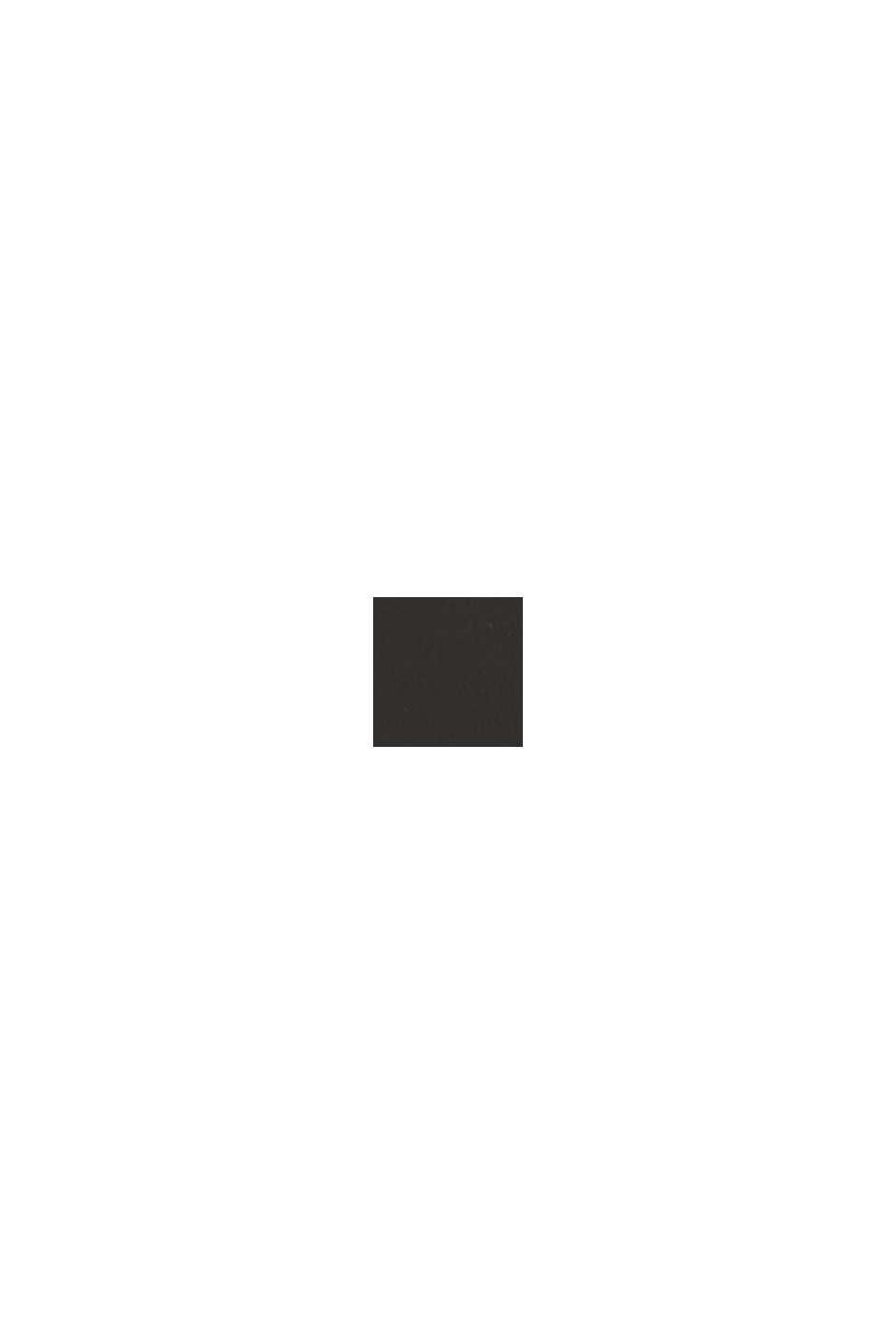 En cuir: la fine ceinture au look basique, BLACK, swatch