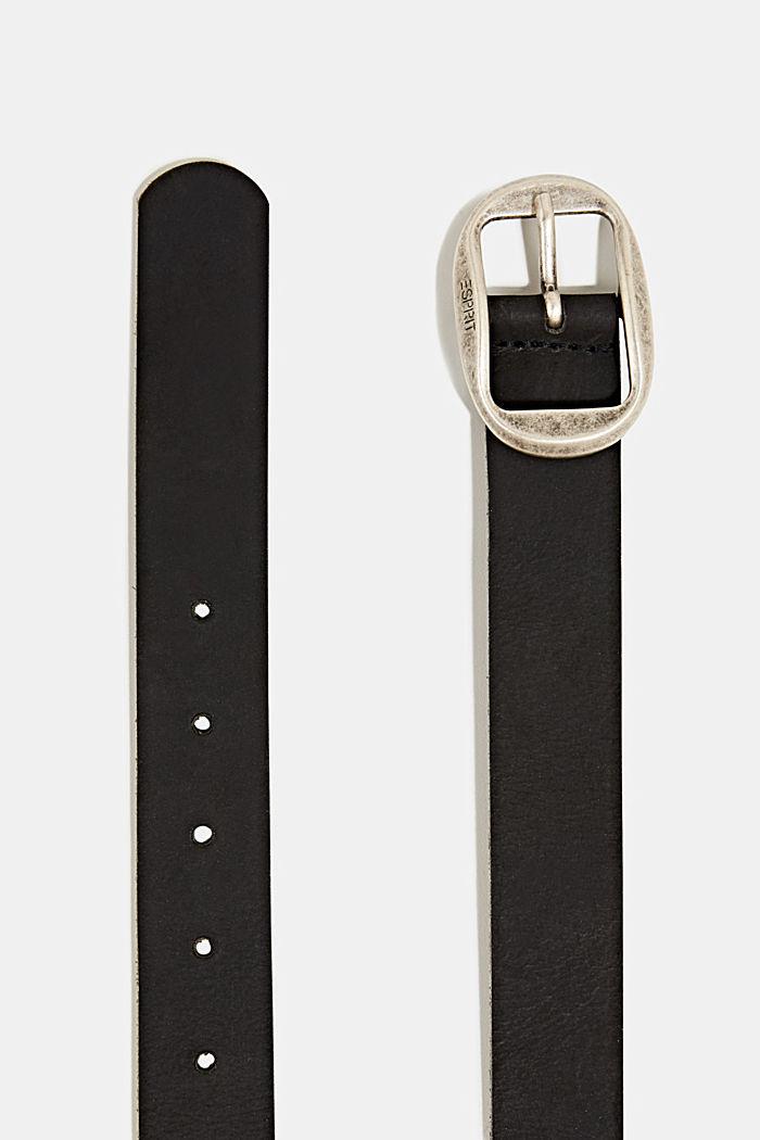 Basic suede belt, BLACK, detail image number 1