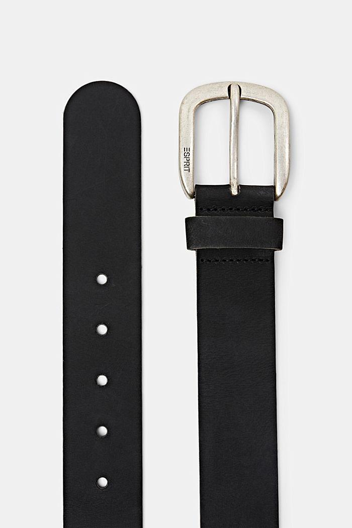 Gürtel aus Leder, BLACK, detail image number 1