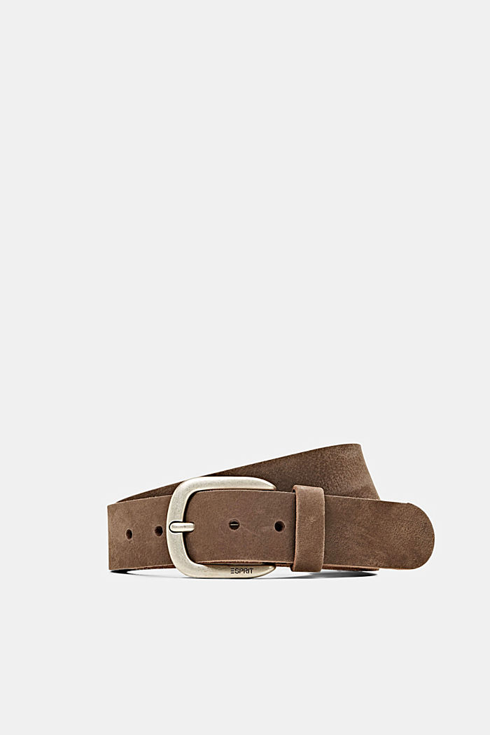 Leather belt, BROWN, overview