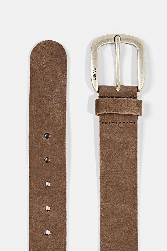 Cintura in pelle, BROWN, detail image number 1