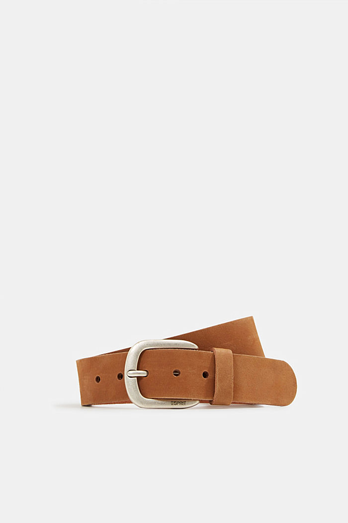 Leather belt, RUST BROWN, detail image number 0