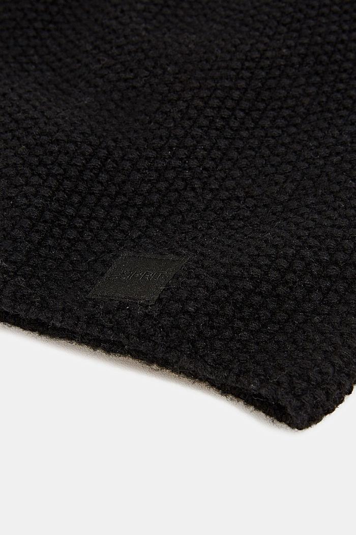Berretto in filato riciclato, BLACK, detail image number 1