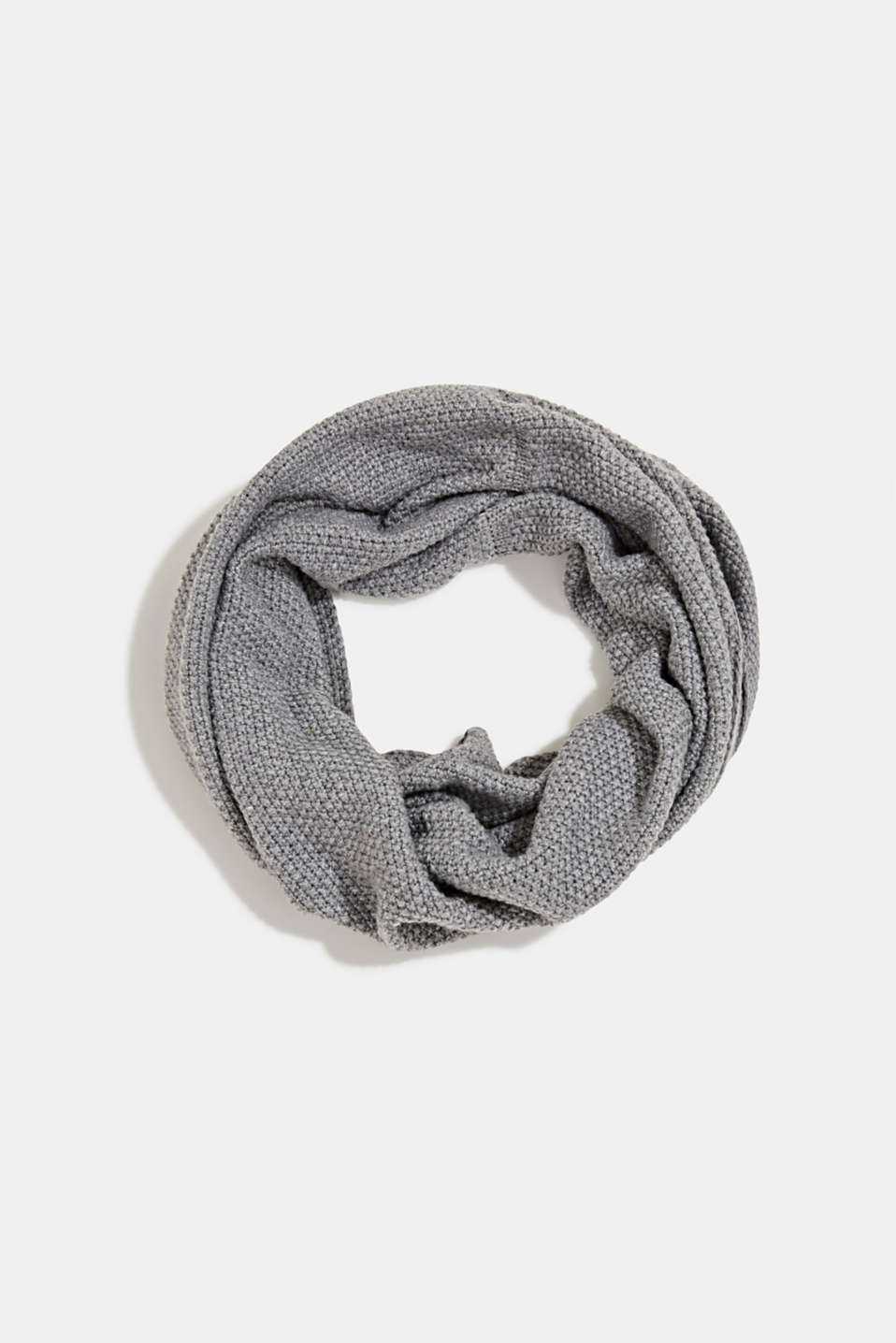 Esprit - Snood scarf made of recycled yarn