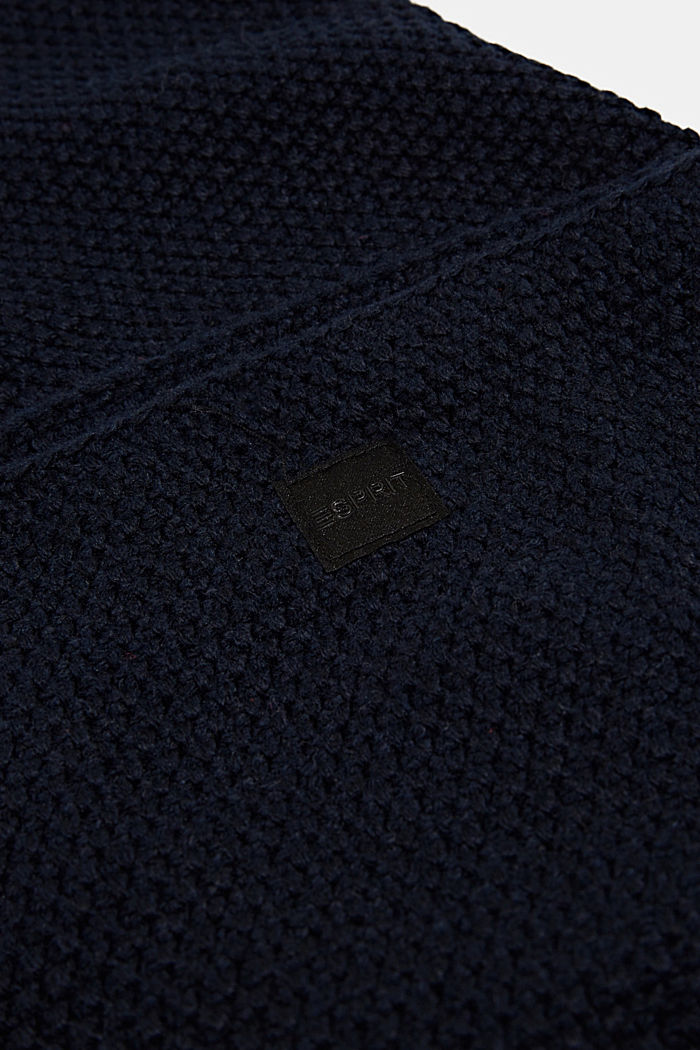 Snood scarf made of recycled yarn, NAVY, detail image number 2