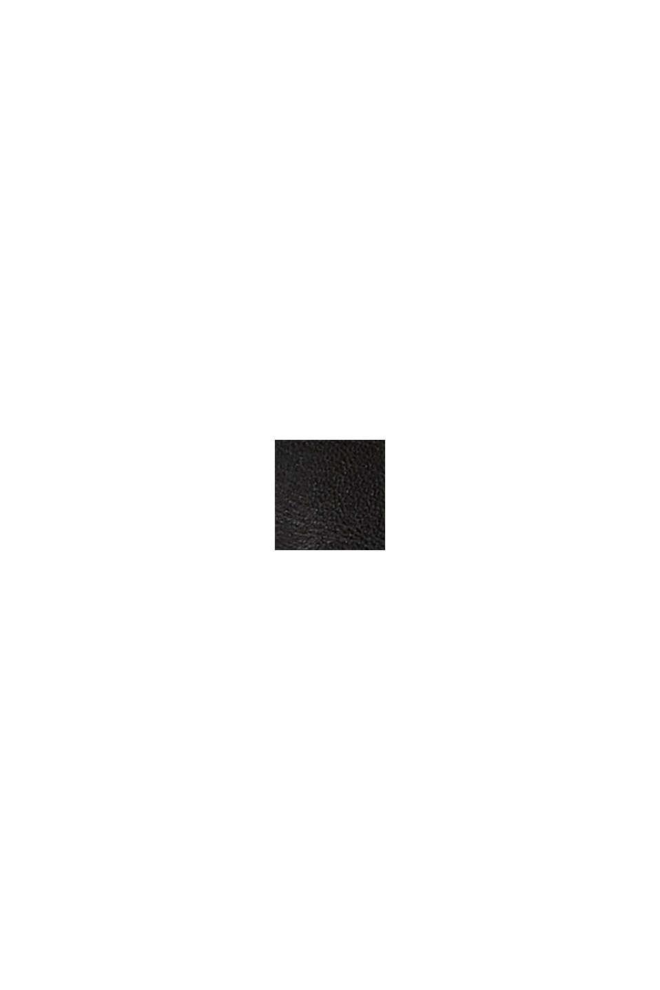 Ceinture en cuir à boucle mat, BLACK, swatch