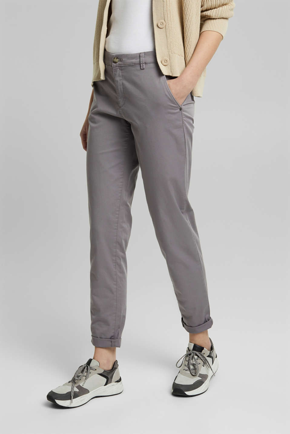 Pants woven, LIGHT GREY, detail image number 0