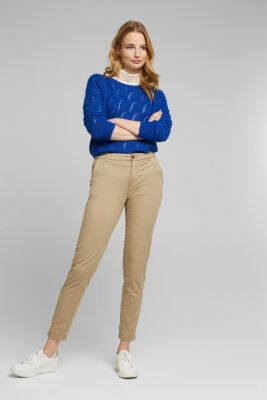 Cotton stretch chinos with Lycra xtra life™, BEIGE, detail