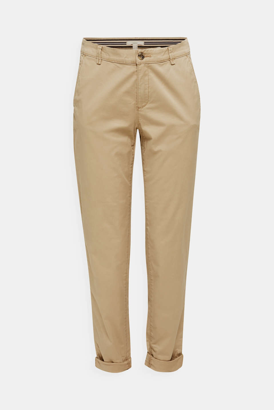 Cotton stretch chinos with Lycra xtra life™, BEIGE, detail image number 7