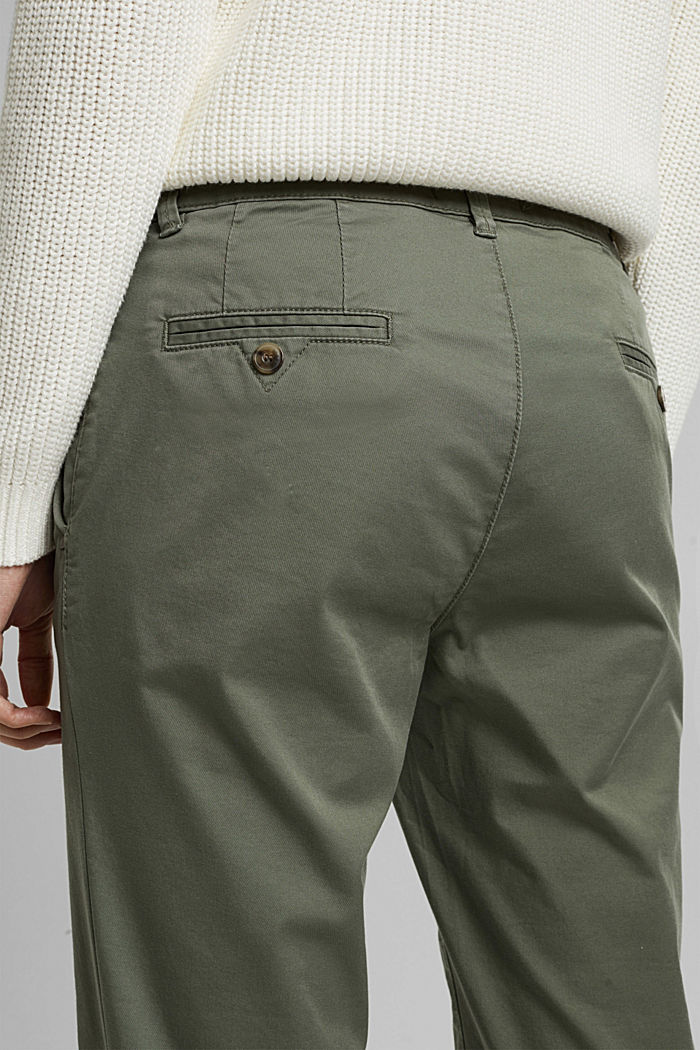 Stretch chinos with Lycra xtra life™, KHAKI GREEN, detail image number 2