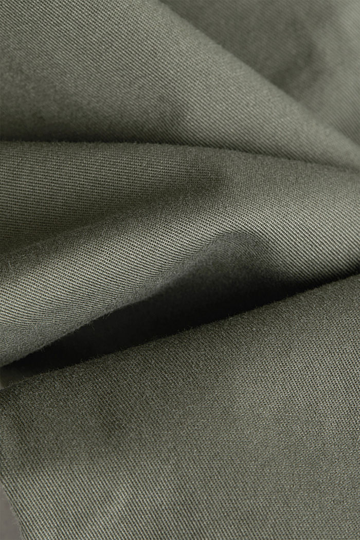 Stretch chinos with Lycra xtra life™, KHAKI GREEN, detail image number 4