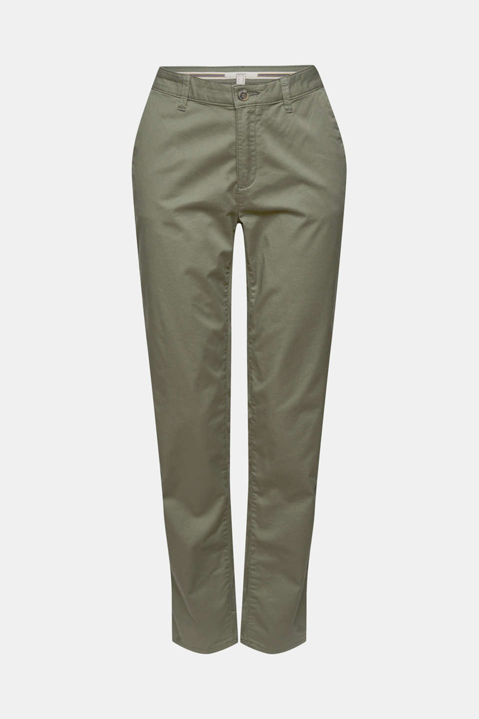 Cotton stretch chinos with Lycra xtra life™, KHAKI GREEN, detail image number 6