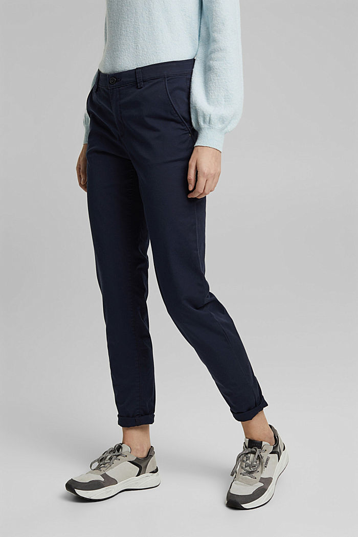 Stretch chinos with Lycra xtra life™, NAVY, detail image number 0