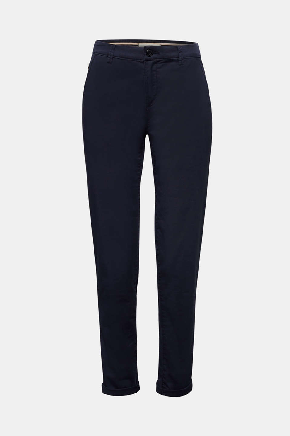 Cotton stretch chinos with Lycra xtra life™, NAVY, detail image number 8