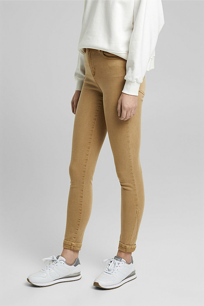 Trousers with shaping function, CAMEL, detail image number 0