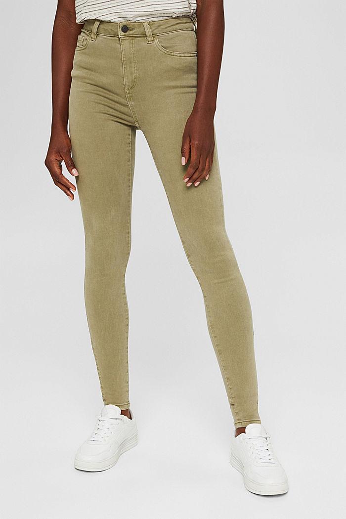 Softe High-Waist-Pants mit Stretch, LIGHT KHAKI, detail image number 0