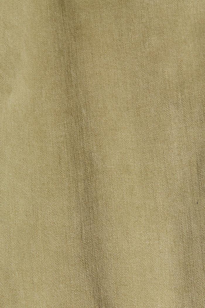 Softe High-Waist-Pants mit Stretch, LIGHT KHAKI, detail image number 4