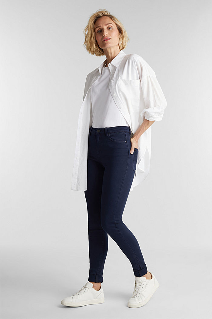 Trousers with shaping function, NAVY, detail image number 1