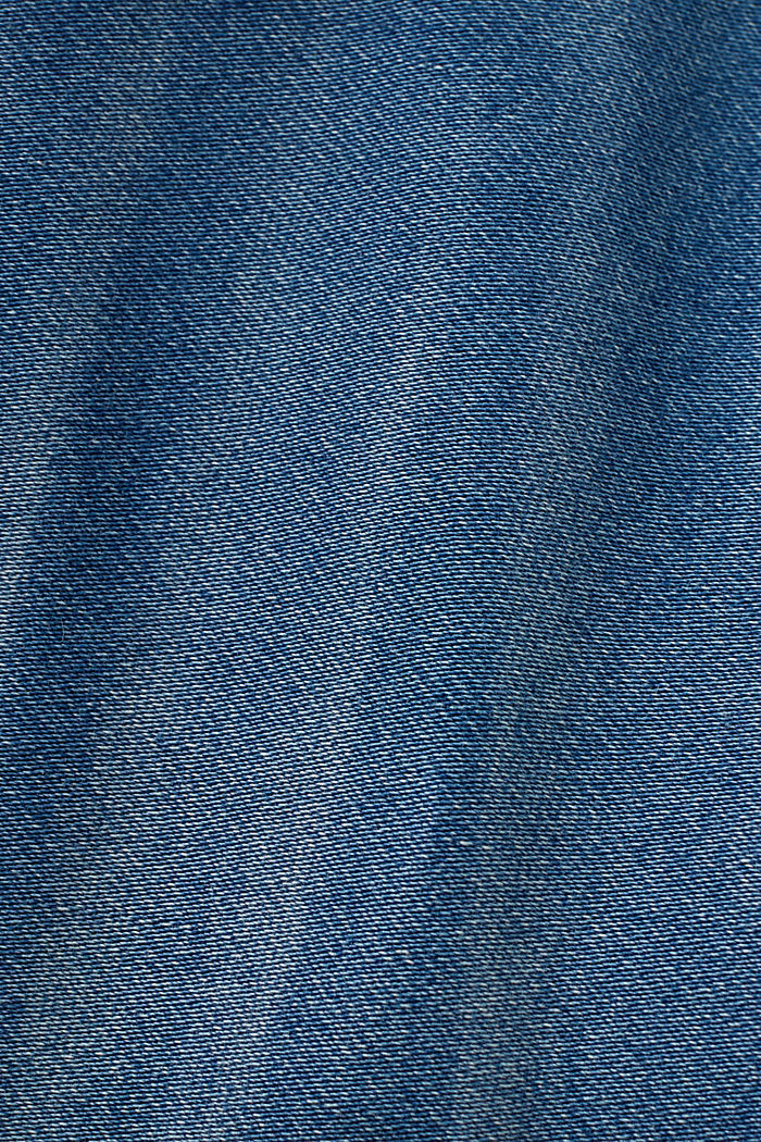 Skinny jeans made of tracksuit fabric, BLUE MEDIUM WASHED, detail image number 4